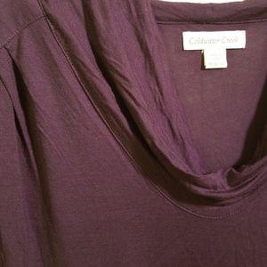 Dark purple, Scoop neck tank